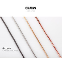 Wholesale China Float - Fashion Box Chain Necklace with Lobster Clasps Jewelry Making for Floating Locket Necklack for Women Men Mix 4 Colors