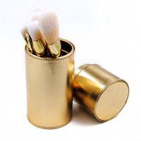 Wholesale Eye Shadow Holder - 7Pcs Makeup Brush kits soft Professional blusher Lipsticks and Eye Shadows Powder blending brushes with cup holder