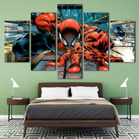 More Panel spiders life - Spider man HD Canvas print Panel Wall Art City Oil Painting Textured Abstract Pictures Decor Living Room Decoration