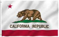 Wholesale California Republic Flag - 3x5 Foot California State Flag - Vivid Color and UV Fade Resistant - 100% Polyester CA REPUBLIC Banner with Brass Grommets