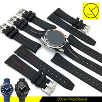 Wholesale Silicone Bracelet Watches For Men - Watchband 20mm 21mm Sports Waterproof Diving Silicone Rubber Man Watch Band Strap with Buckle for Submariner Date GMT Explore Deepsee +Tools