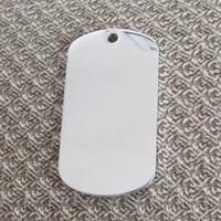 tag de cão de aço inoxidável em branco venda por atacado-20 pcs Aço Inoxidável Exército Dog Tags Espelho superfície em branco e espessura gravável a laser 1.8mm pingentes