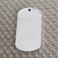 Wholesale 20pcs Stainless steel Army Dog Tags Mirror surface blank and laser engravable thickness mm pendants