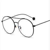 Wholesale Mirror Plain Glass - Fashion Accessories Sunglasses Frame Luxury Brand round sunglasses for women sun glass Plain mirror Retro student gift new
