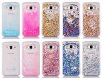 Wholesale Grey Foil - Bling Liquid Hard Plastic Case For Galaxy Core Prime G360 G361 G360H Diamond Foil Glitter Heart Love Sparkle Quicksand Star Clear Cover Skin