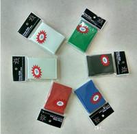 barajas de cartas magicas al por mayor-65 * 91 mm poke Magic Card Sleeves protector de la cubierta 50 unids / pack Alta calidad 6 colores