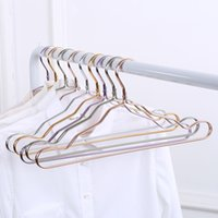 Discount metal shirts - 42cm Gold Aluminum Alloy Hanger for Clothes Strong 5 Colors Rose Gold Metal Shirts Dress Sun-top Hanger Free Shipping
