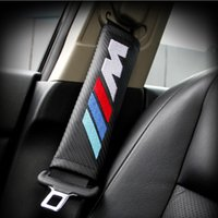 Wholesale Shoulder Belt Protectors - 2x Safe fit thickening car safety belt adjust device baby child safety belt protector for BMW M3 M5 E39 E46 E53 E60 E90 F10 F15