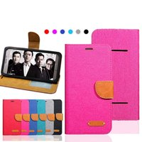Universal Cell Phone Folio Canvas Wallet Case com Silicone Soft Cover para 6 tamanhos diferentes 3.5