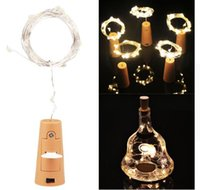 Wholesale Cards For Valentines - 2m 20-LED Copper Wire String Light with Bottle Stopper for Glass Craft Bottle Fairy Valentines Wedding christmas Decoration Lamp Party