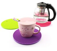 Wholesale Silicone Rubber Coaster - Table Kitchen 18cm Round Silicone Non-slip Heat Resistant Mat Coaster Cushion Placemat Pot Holder Kitchen Accessories 11 Colors
