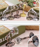 Wholesale wall ties for sale - Group buy Hot Housekeeping Large Metal Crystal Ball Curtain Hooks Tassel Wall Tie Back Hanger Holder Curtain Hanging Tools colors
