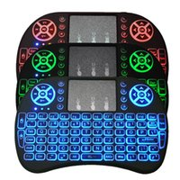 Rii I8 Backlight Backlit 2.4GHz Wireless Mouse Gaming Keyboard colorido Backlight Controle remoto para S905X S912 Android TV Box T95 X96 Mxq
