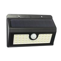 Wholesale Solar Led Super Bright - 45LEDS Sensor Light Super Bright Solar Lights 2.5W LED Wall Lamp 2200mAh outdoor wall led light Solar Wall Light