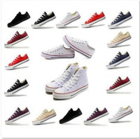 Wholesale Chucks Shoes Black - DORP SHIP size35-45 Unisex Low-Top & High-Top Adult Women's Men's Canvas Shoes 13 colors sports stars chuck Laced Up Casual Sneaker shoes