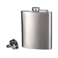 Wholesale Mini Alcohol Flask - Top selling 8oz Mirror Polished Stainless Steel Portable Liquor Wine Hip Flask Whisky Alcohol Cap Funnel Drinkware Flask & Funnel Set