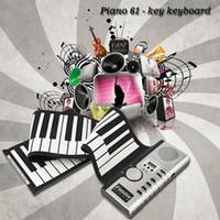 ingrosso tastiera di pianoforte rotolabile portatile-2017 Nuovo portatile 61 tasti universale flessibile Roll Up Piano elettronico Pianoforte tastiera morbida Spedizione gratuita
