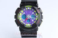 Wholesale Ga Belt - 5pcs lot Men's Women's Dual Display Sports GA-120 Watch GA120 Wristwatches LED Display Watches Casual Watches