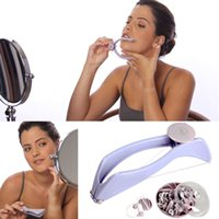 Wholesale Girls Facial Hair - Wholesale- Face Hair Epilator Threader System Facial Hair Removal Makeup Beauty Tools Uncharged for Woman Girl Body Simple Skin Care Tool