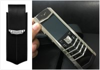 Wholesale Signature Phone - New Luxury phone pouch case for vertu signature s ceo 168 Mobile phone case for luxury VIP phones