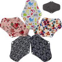 Wholesale Sanitary Napkins Bamboo - Asenappy Resuable Leakproof Charcoal Bamboo Cloth Sanitary Napkins Towel Menstrual Pads Liner BP3