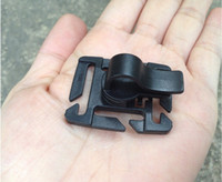 Wholesale Outdoor Hoses - Wholesale-10PCS LOT EDC Outdoor tool rotating plastic tactical buckle water Tube Pipe Hose Clip Holder For Backpack Camping Hiking