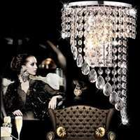 2017 Luxe K9 Crystal LED Wall Lampes Crystal Wave Chandelier Curtain Wave LED E14 Ampoules Lustre à CristalS Pendent Hotels Lamp