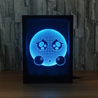 3D Empression LED Photo Frame Decoration Lamp IR Remote 7 RGB Lights DC 5V Factory Wholesale Drop Shipping