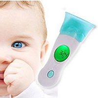 Wholesale Digital Ear Infrared Ir Thermometer - 4 in 1 Baby Adult Digital LCD Ear Forehead Ambient Clock IR Infrared Thermometer Degrees Celsius