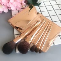 PONY EFFEKT Mini Pinsel Set 5pc + Pouch Rose Gold Reise Größe Makeup Pinsel Set / Kit - Korean Kosmetik - Beauty Makeup Pinsel Blender