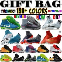 Wholesale Indoor Floor Socks - 2017 Mens Soccer Cleats Turf Magista Obra IC TF Soccer Shoes Indoor Mercurial Superfly CR7 Neymar Socks Football Boots Ronaldo Mercurialx