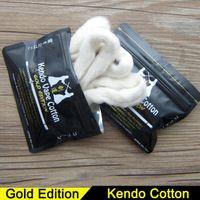 Wholesale Organic Gold Wholesale - Original Kendo Vape Cotton Japanese Organic Kendo Cotton Gold Edition for DIY RDA RTA RDTA Atomizer Tank DIY E Cigarette Heat Wire Cotton