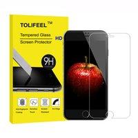 ingrosso schermo di pellicola reale di vetro temperato reale premium-9H Pellicola salvaschermo in vetro temperato Real Premium per iPhone 4S 5 5S 5C SE 6 6S 7 Plus Pellicola protettiva