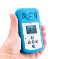 Wholesale Portable Oxygen Detector - Wholesale- NEW Oxygen Meter Portable Oxygen(O2) Concentration Detector with LCD Display&Sound-light Alarm air quality monitor gas analyzer