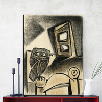 Wholesale Picasso Print Abstract - ZZ848 Owl art prints by Pablo Picasso canvas oil art painting wall pictures for livingroom bedroom decoration unframed prints