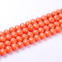 Wholesale circle shell beads for jewelry for sale - Group buy 1pack mm Fashion Oval egg shape in cross hole Natural Shell Pearl Loose Spacer Beads DIY for Jewelry Craft necklace