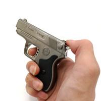 Wholesale Lighter Pistol Wholesale - Mini Novelty Metal Pistol Jet Flame Windproof Cigarette Cigar Gun Lighter