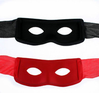 Mardi Gras Masquerade Noir Rouge Super Hero Zorro Eye Mask Party Ball Hallowmas New Year Masques Haute Qualité