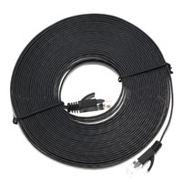 Wholesale High Quality Patch Cables - High Quality 1M 3M 5M 10M Aurum Cables Flat CAT6 Flat UTP Ethernet Internet Network Cable RJ45 Patch LAN Cable Connector