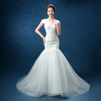 Wholesale Very Sexy Wedding - Robe De Mariage 2017 Free Shipping Embroidery Bridal Gowns Lace Sexy Boat Neck And Very Beautiful Mermaid Wedding Dresses Vestidos De Noiva