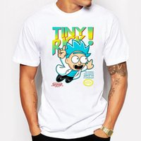 Wholesale Men S Fitness Fashion - Summer Cool Tiny Rick and Morty Man t shirt Anime T-shirts Let Me Out White Fitness Cartoon Fitness Funny tee shirt homme