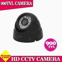 cámara de noche de día interior al por mayor-Mini cámaras domo cámara cctv 900tvl cámara interior sistema de vigilancia en el hogar 24 IR por día / noche cámara CMOS