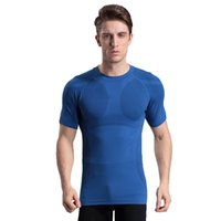Wholesale Men Body Fit - The new men's tight-fitting short-sleeved body sculpting plastic clothing soft pressure comfortable breathable quick-drying sportswear