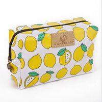 sevimli seyahat çantaları toptan satış-Karikatür desen kozmetik çantası çanta için sevimli kozmetik çantası makyaj çantaları Su Geçirmez Oxford bez seyahat kozmetik organizatör