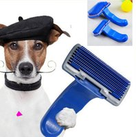 Wholesale Large Hair Combs Wholesale - Pop Pet Shedding Tool Brush Dogs Cats Hair Short Large Grooming Brush Comb Pet Brush Dog Cat Grooming Trimmer Soft Pin KKA1816