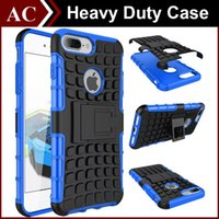 Wholesale Iphone Stand Spider Case - Rugged Dual Layer Hybrid Spider Kickstand Case Robot Heavy Duty Defender Stand Holder PC + TPU Cover for iPhone 5S SE 6 6S 7 Plus S6 S7 Edge