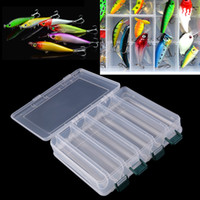 Atacado 27cm * 18cm * 4.7cm Novos 10 14 Compartimentos Double Sided Fishing Lure Bait Hooks Tackle Waterproof Storage Box Case