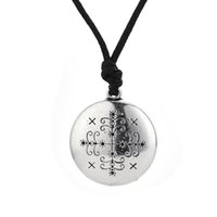 Wholesale Love Amulet Pendant - Lwa Death Jewelry Papa Legba Voodoo Loa Veve Pendant Amulet eWitchcraft for man and women necklace