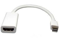cable dp 도매-100pcs 고품질 Thunderbolt Mini DisplayPort 디스플레이 포트 DP to HDMI 어댑터 케이블 Apple Mac 용 Macbook Pro Air