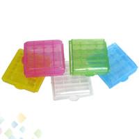 aa pil yuvası toptan satış-AA / AAA / 14500/10440 Pil Saklama Kabı Pil Tutucu Plastik Pil Saklama Kutusu Kutusu Taşıma Kutusu DHL Ücretsiz